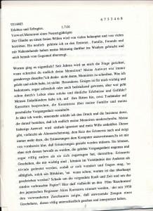 Originalmanuskript der Erinnerungen
