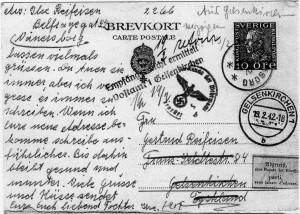 POSTKARTEIlseanEltern1942