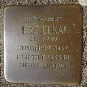 Stolperstein_Herz_Elkan